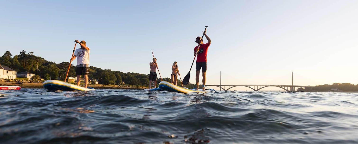 Stand paddle en bretagne sud près du camping Kervastard